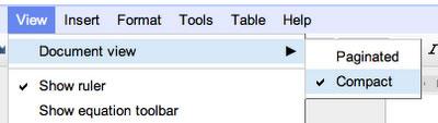 Google Docs dokumendi lehekülgedeks jagamine